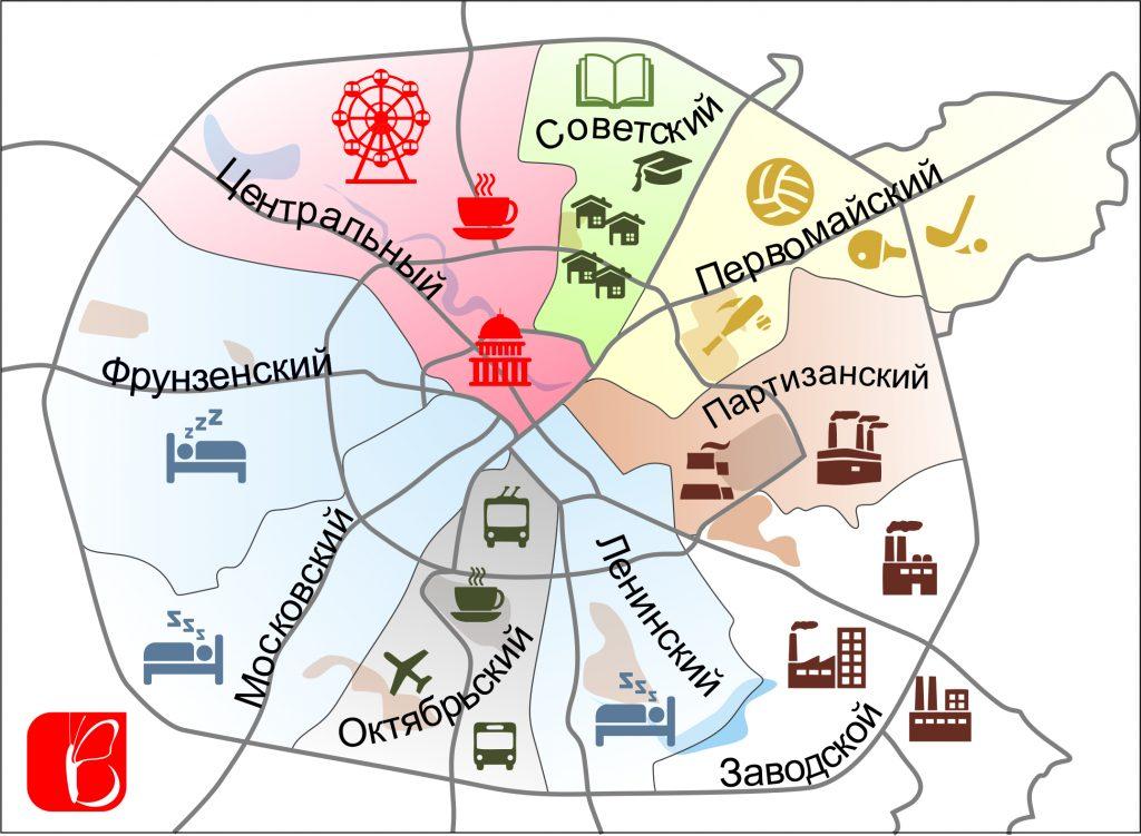 инфографика по районам картинка
