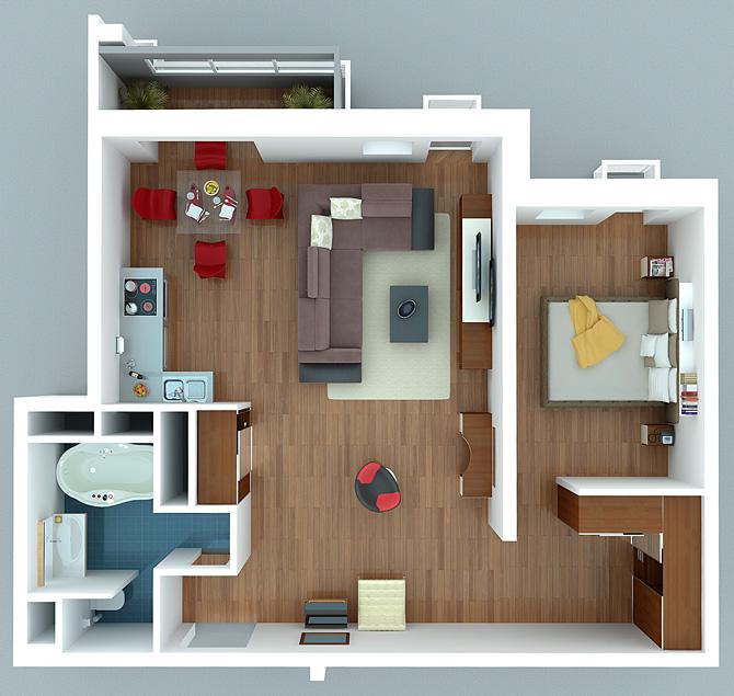 схему планировки квартиры.