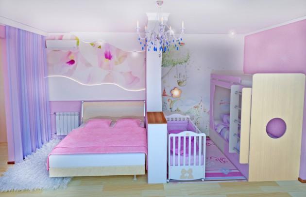 Как сделать из комнаты сделать спальню и гостиную